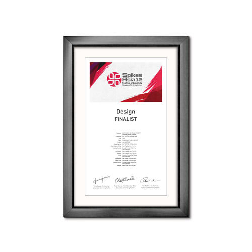 Merit Award at Spikes Asia 2012