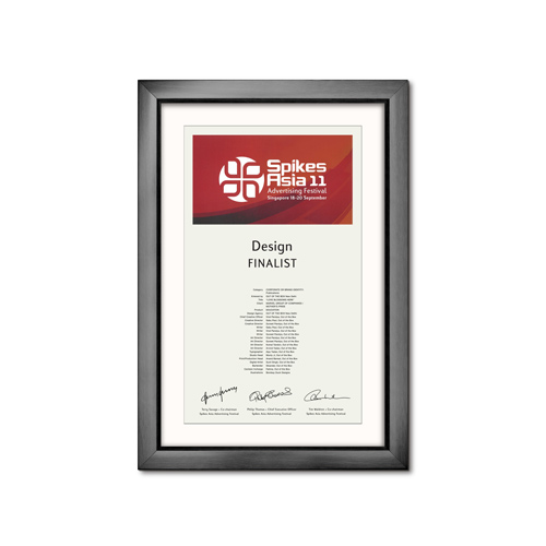 Merit Award at Spikes Asia 2011