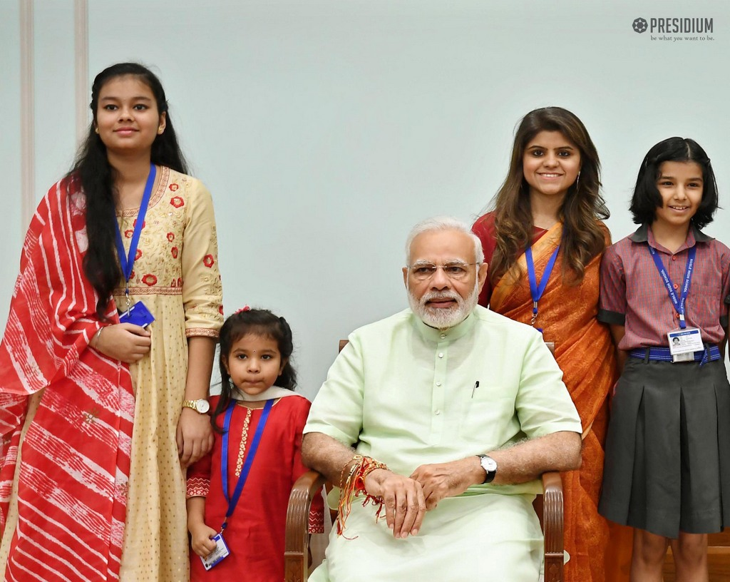 CELEBRATING RAKSHABANDHAN WITH THE PM OF INDIA,SHRI NARENDRA MODI