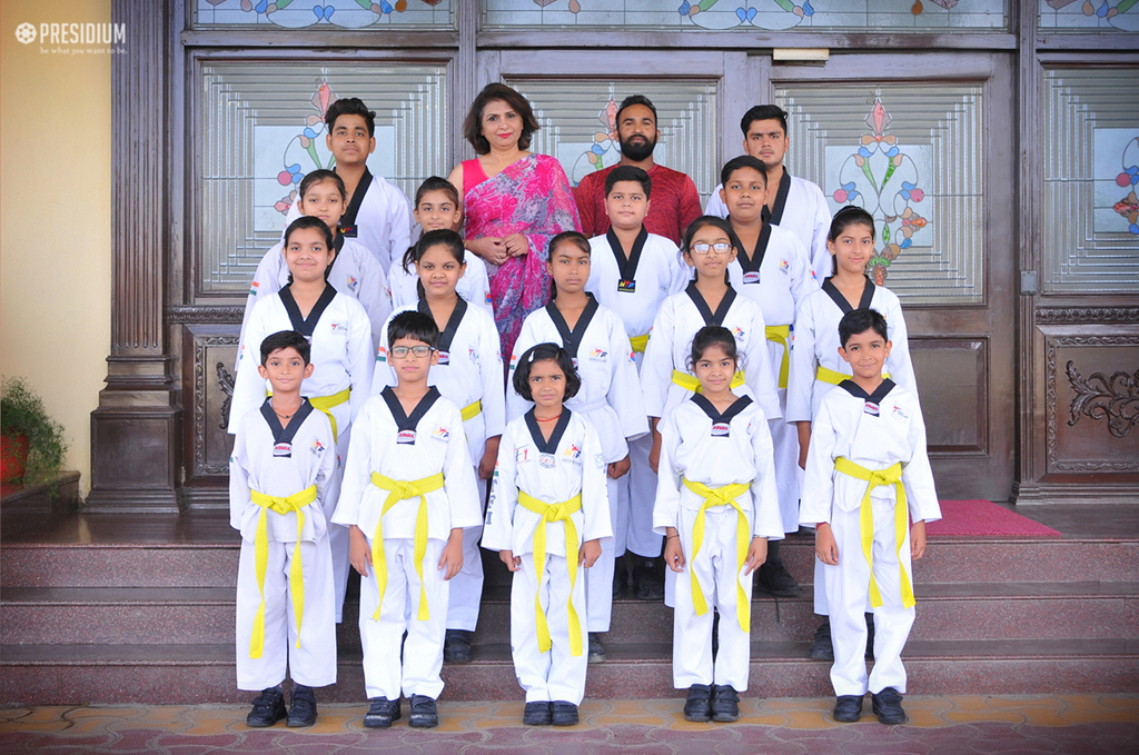 PRESIDIANS ACE IN TAEKWONDO ACTIVITY & GET YELLOW & GREEN BELTS