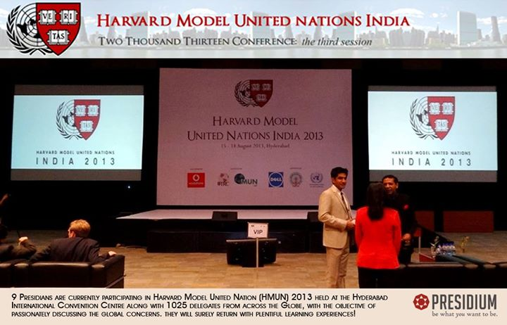 PRESIDIANS TO ATTEND THE HARVARD MUN, HYDERABAD