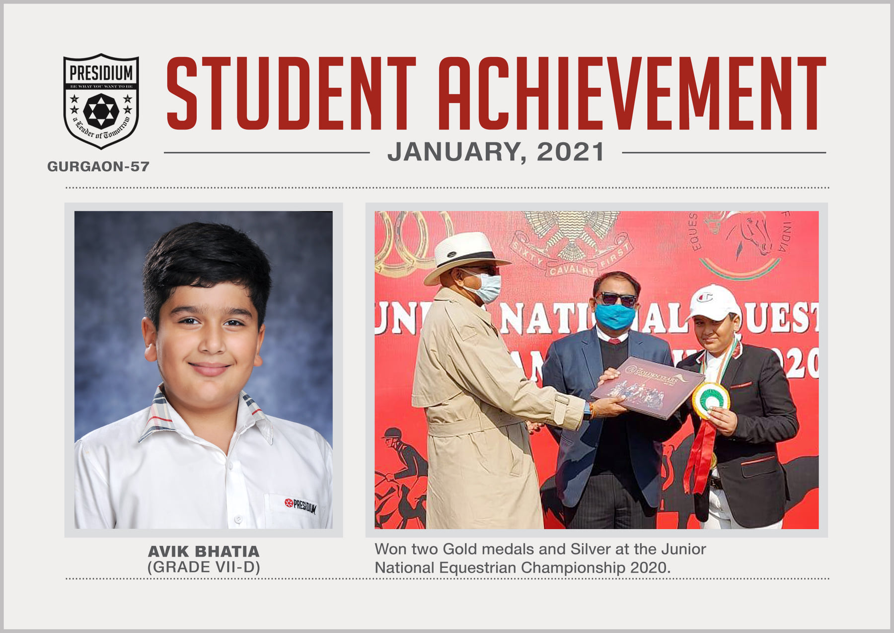 AVIK BHATIA - OUR EQUESTRIAN PRODIGY 2021