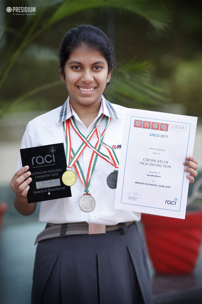 OUR SCIENCE GIMMICK AAYUSHI KHARE BAGS THE NTSE SCHOLARSHIP