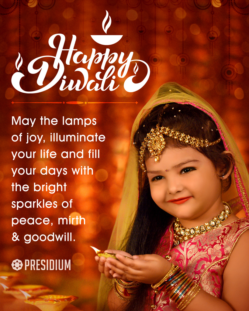 MAY THE LIGHT OF DIWALI ILLUMINATE YOUR SOUL WITH CONTENTMENT