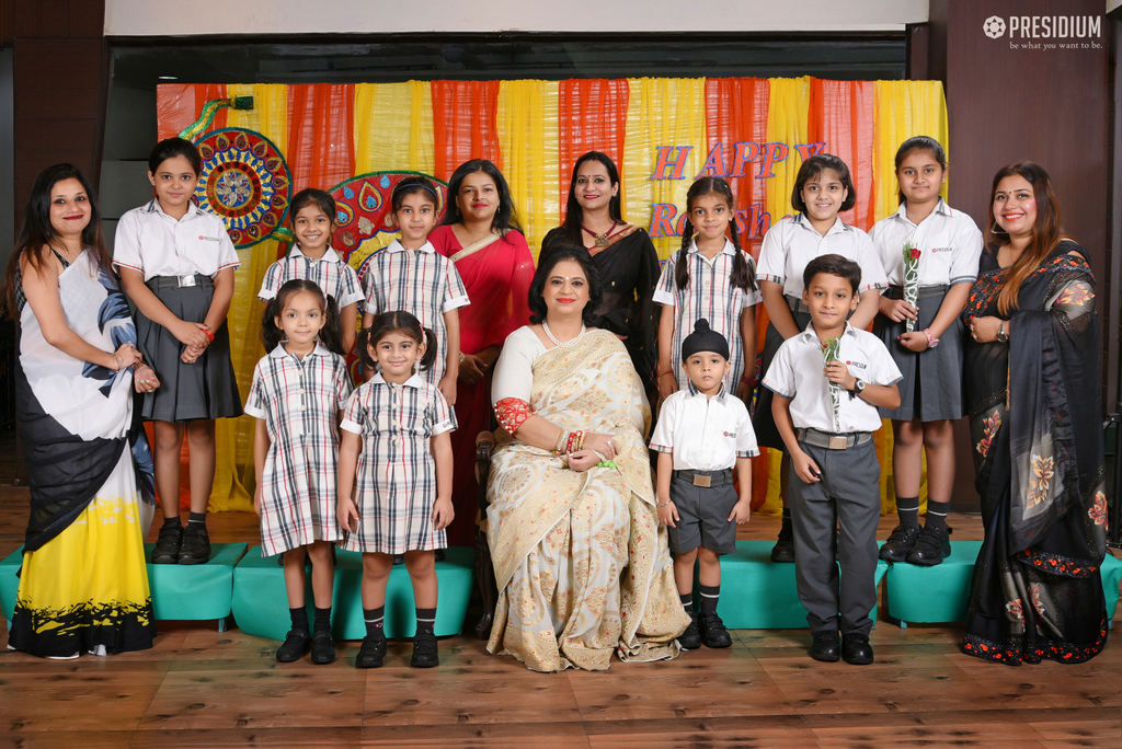 MRS.SUDHA GUPTA JOINS STUDENTS FOR RAKSHABANDHAN CELEBRATION