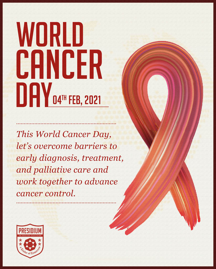 LET'S JOIN HANDS TO GENERATE AWARENESS ABOUT CANCER PREVENTION
