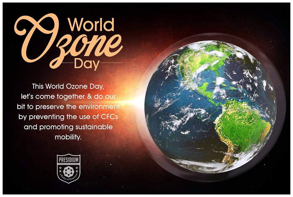 LET'S JOIN HANDS TO WORK IN THE DIRECTION OF SAVING OZONE.