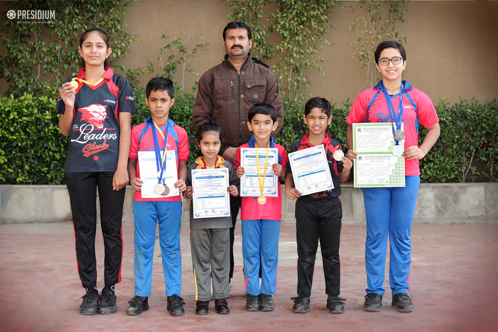 GRAND ACHIEVEMENTS OF THE SKATING MAESTROS OF PRESIDIUM GURGAON