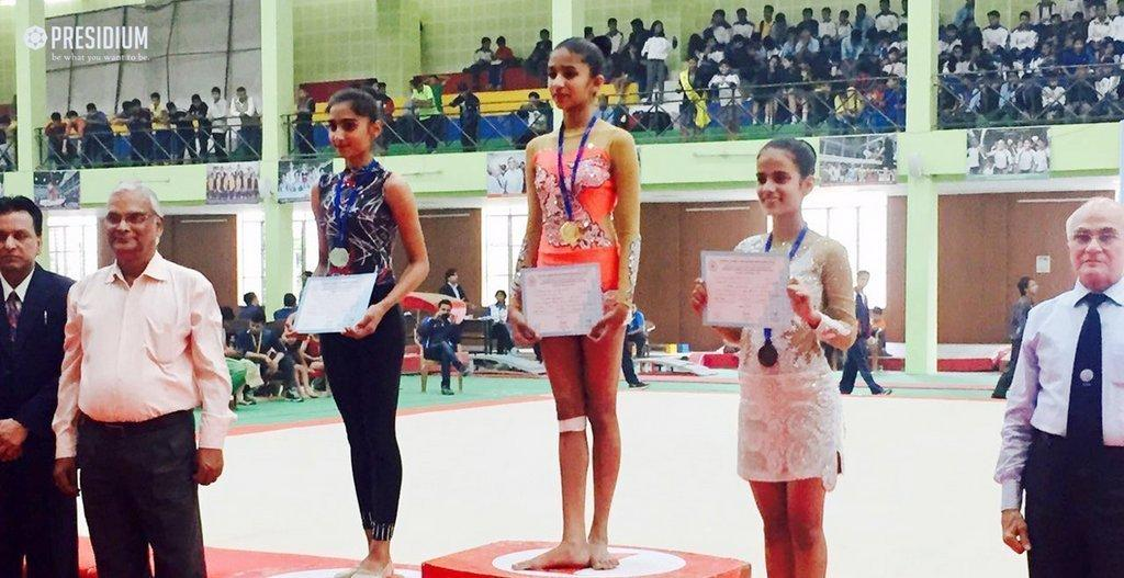 CBSE Nationals: Presidium Gymnasts outshine with 7 medals!