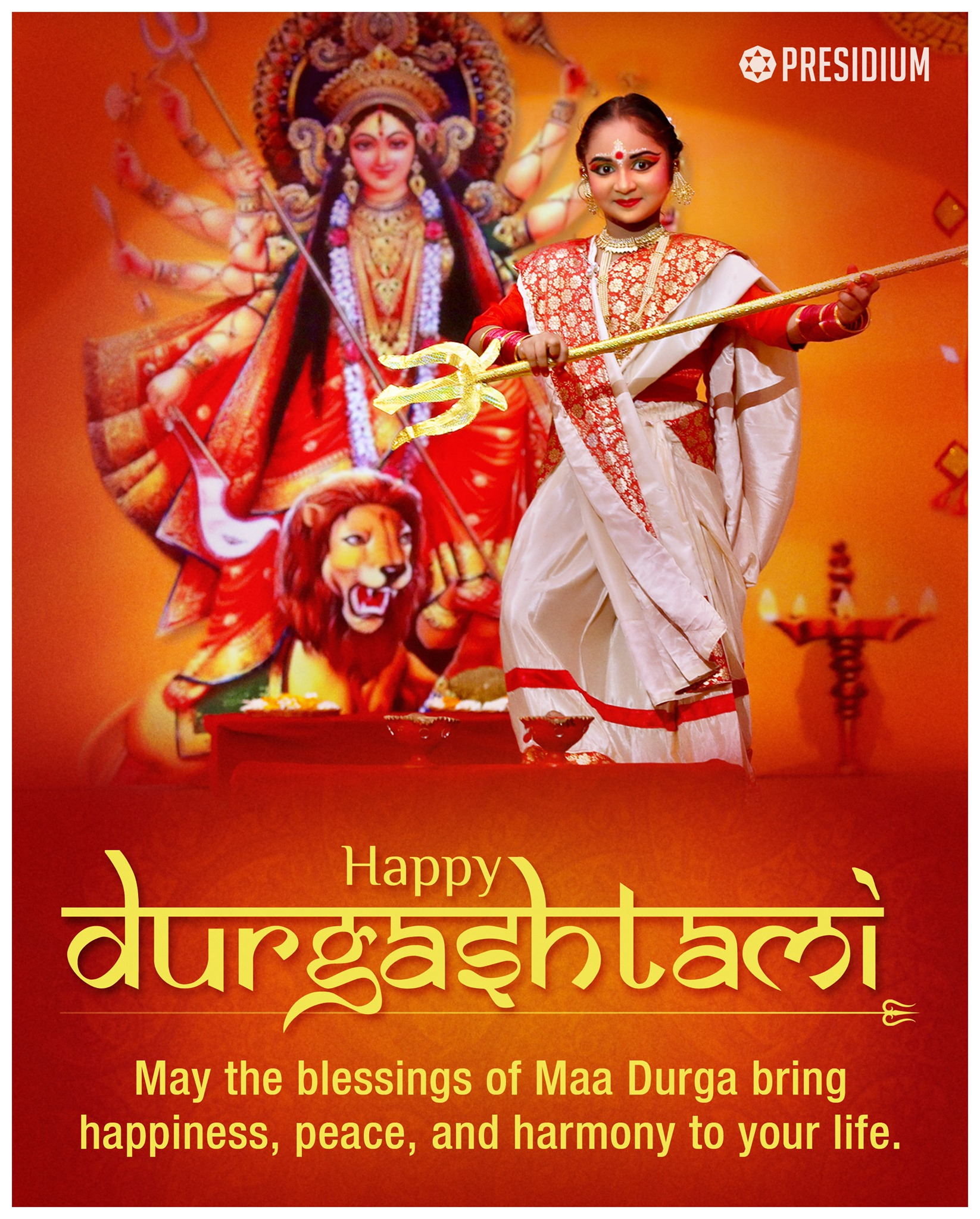 MAY GODDESS DURGA SHOWER HER DIVINE BLESSINGS ON ALL!