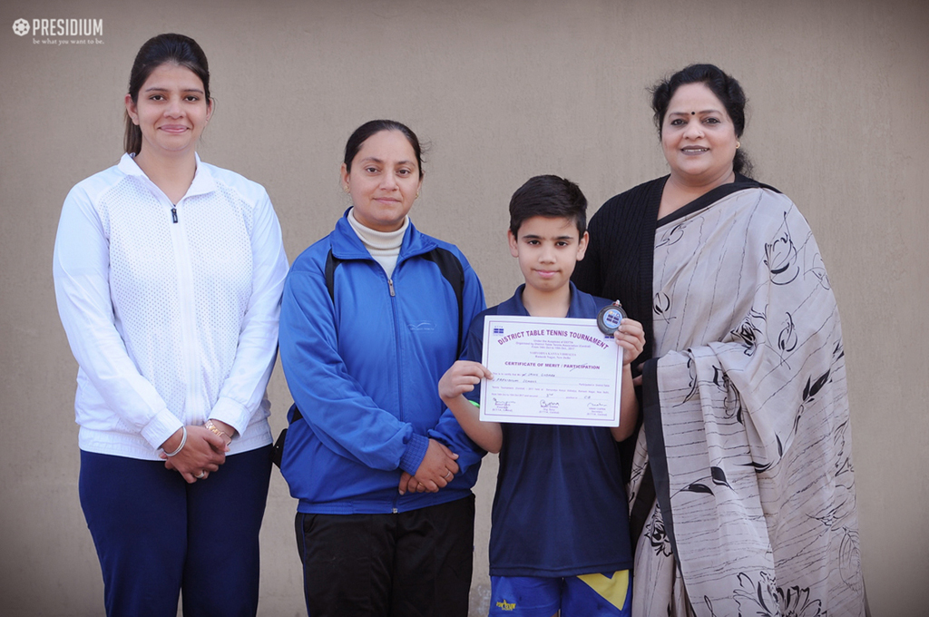 DISTRICT TABLE TENNIS COMPETITION: SAHIL BAGS BRONZE & 3RD RANK
