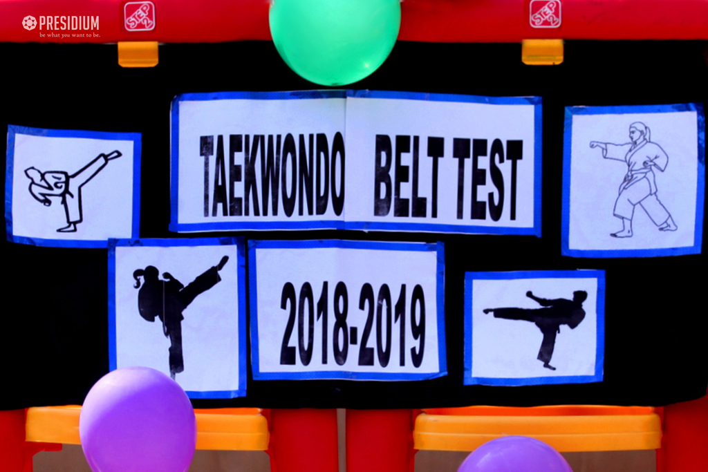PRESIDIANS SHOWCASE THEIR TECHNIQUE AT TAEKWONDO BELT TEST EVENT2019