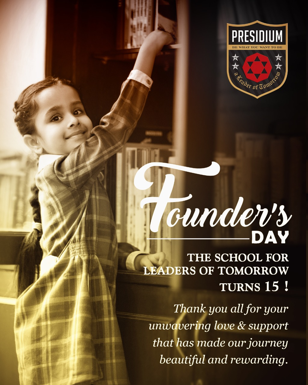THE SCHOOL FOR LEADERS OF TOMORROW TURNS 15!
