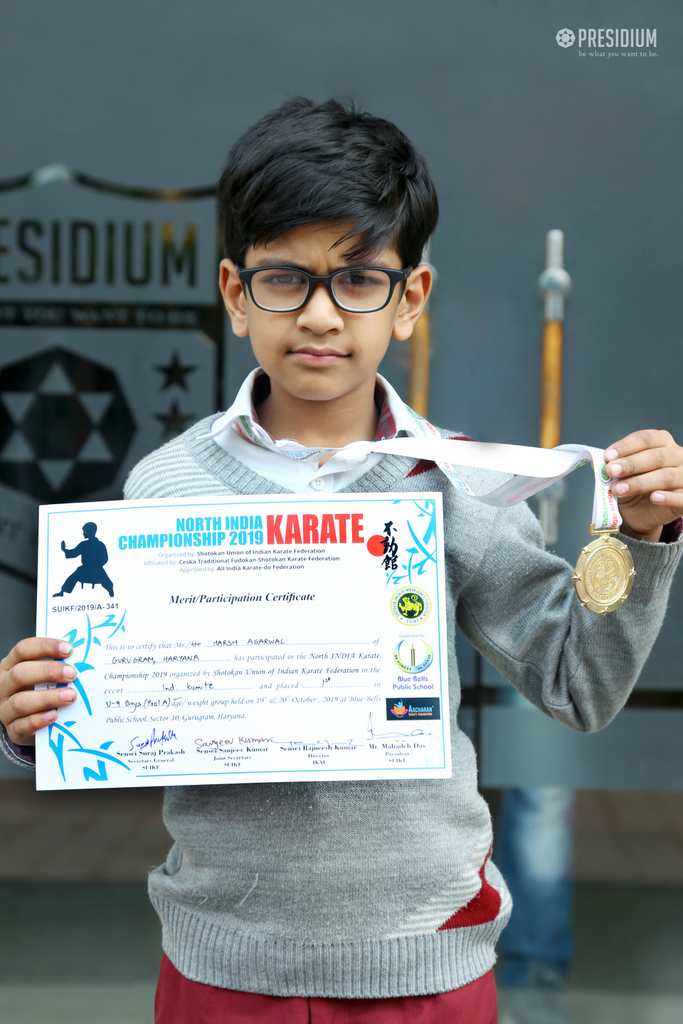 Achievement News: Harsh agrawal (our Karete Champenion) - 26th Nov