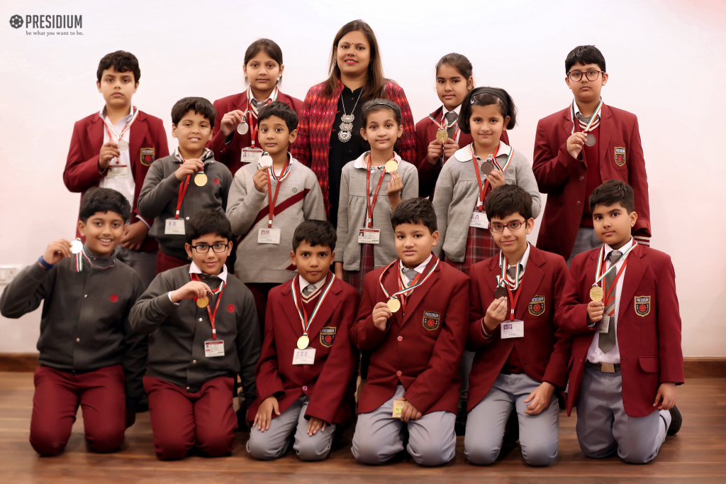 PRESIDIANS WIN MEDALS AT SCIENCE OLYMPIAD FOUNDATION COMPETITION 2019