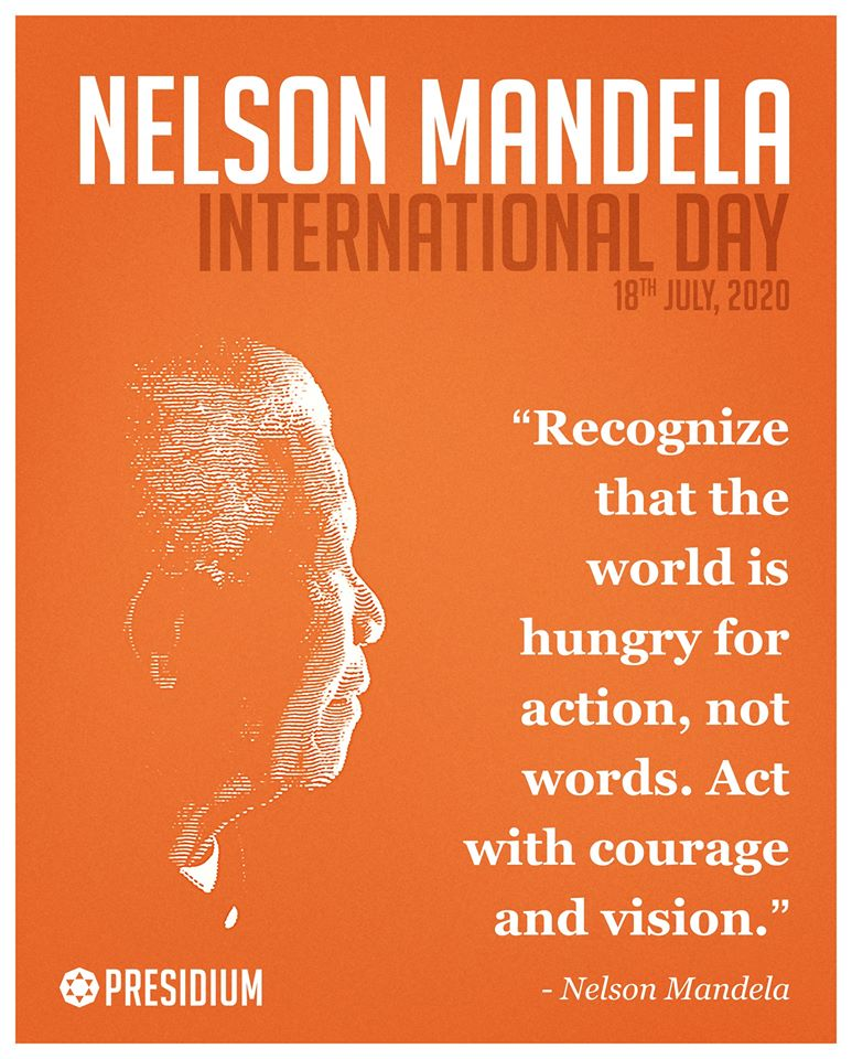 LET'S PROMOTE THE IDEALS REPRESENTED BY NELSON MANDELA!