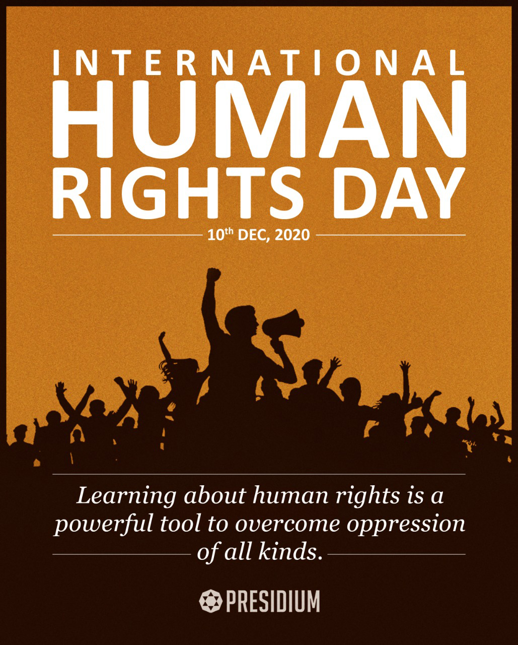 LET'S SPREAD THE IDEALS OF HUMANITY ON WORLD HUMAN RIGHTS DAY