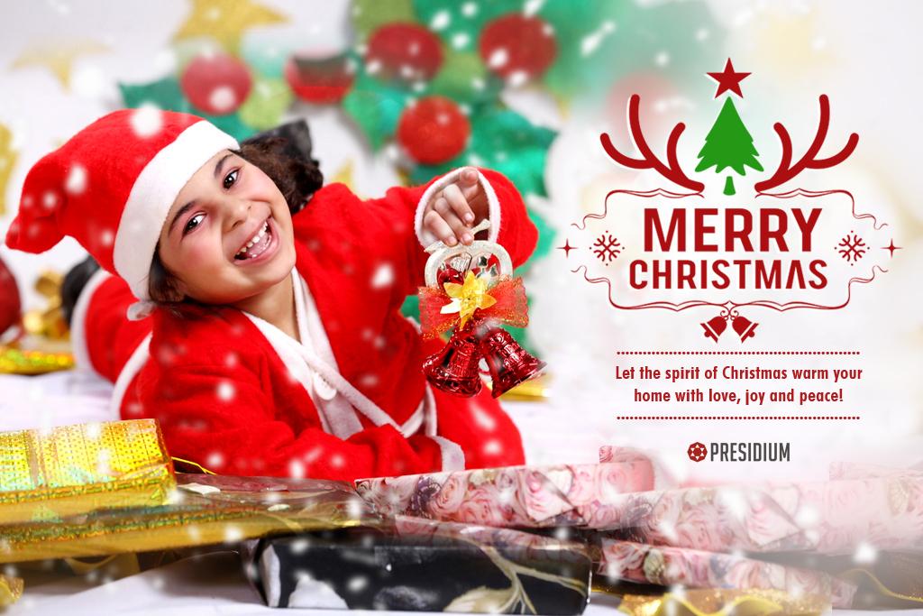 THE LOVELY FESTIVAL OF CHRISTMAS WRAPS PRESIDIUM IN FESTIVE HUES