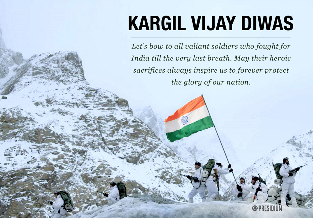 SALUTING WAR HEROES FOR THEIR BRAVERY ON KARGIL VIJAY DIWAS