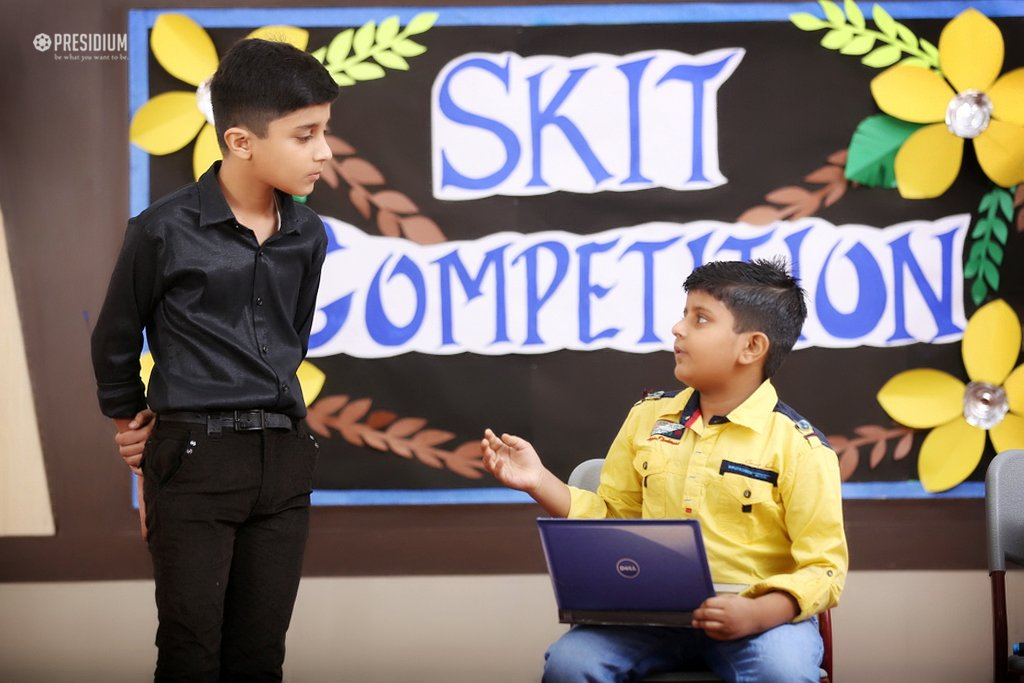 INTER-CLASS SKIT CONTEST:IGNITING STAGE WITH WIT & ACTING PROWESS