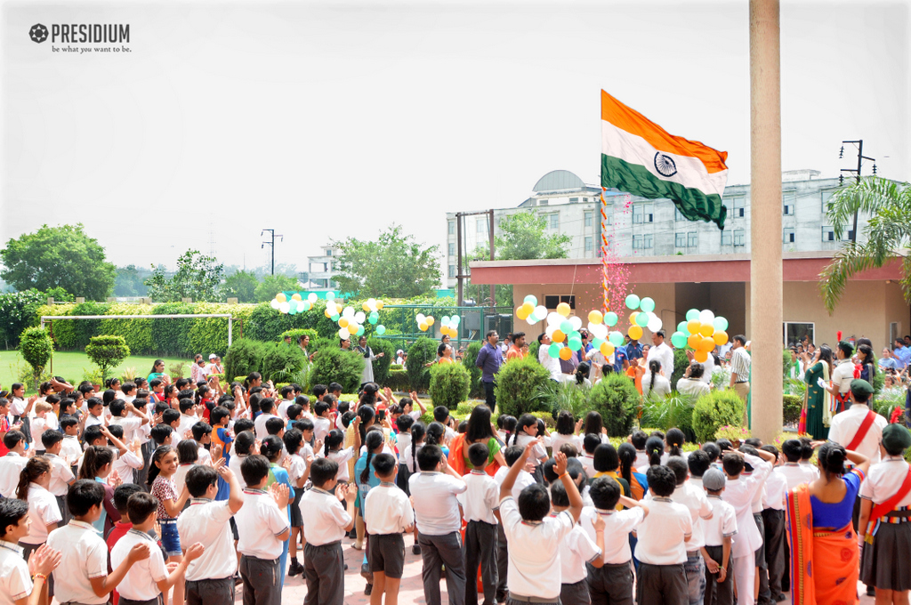 PRESIDIANS PROUDLY SALUTE THE TRICOLOUR ON INDEPENDENCE DAY
