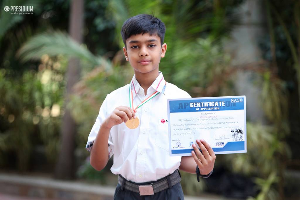 SHLOK EXCELS IN SCIENCE & ASTRONOMY IN NATIONAL OLYMPIAD(NASO)