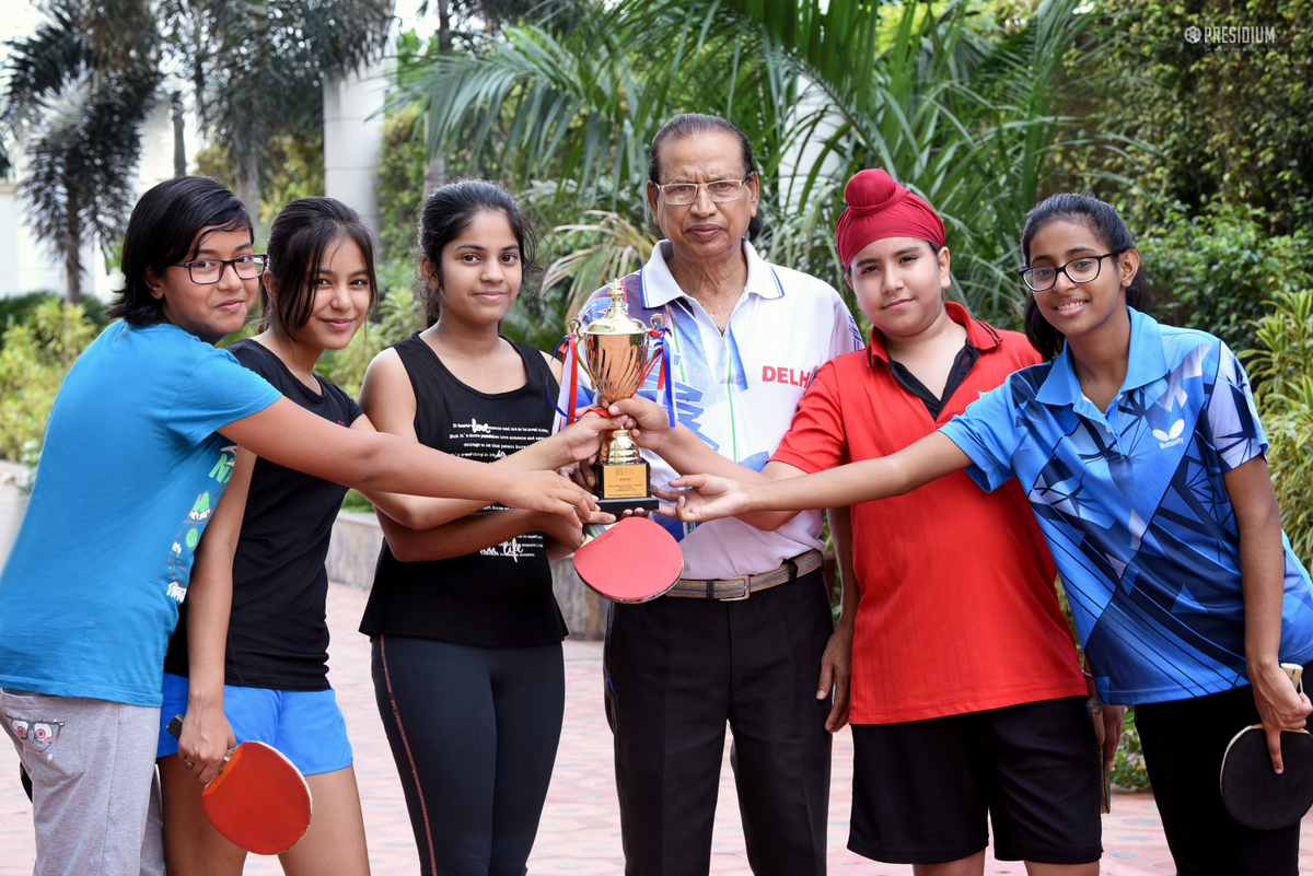 GIRL POWER OF PRESIDIUM STRIKES BRONZE AT TABLE TENNIS TOURNAMENT