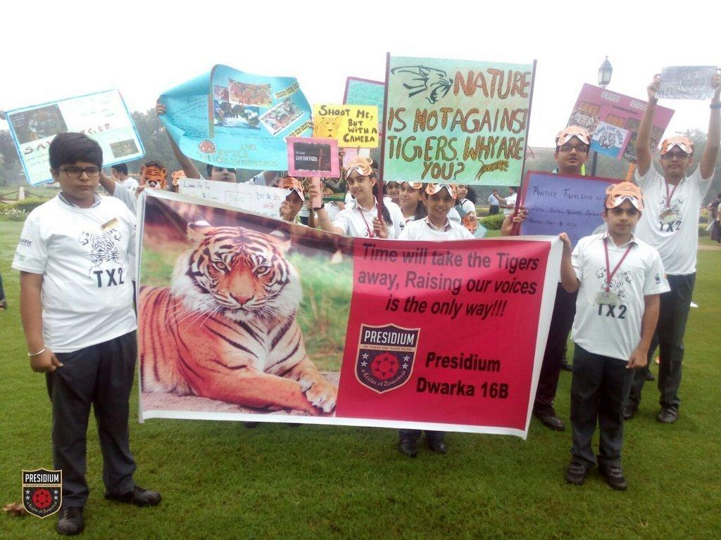 SAVE TIGERS TO SAVE THE PLANET:PRESIDIANS OBSERVE WORLD TIGER DAY