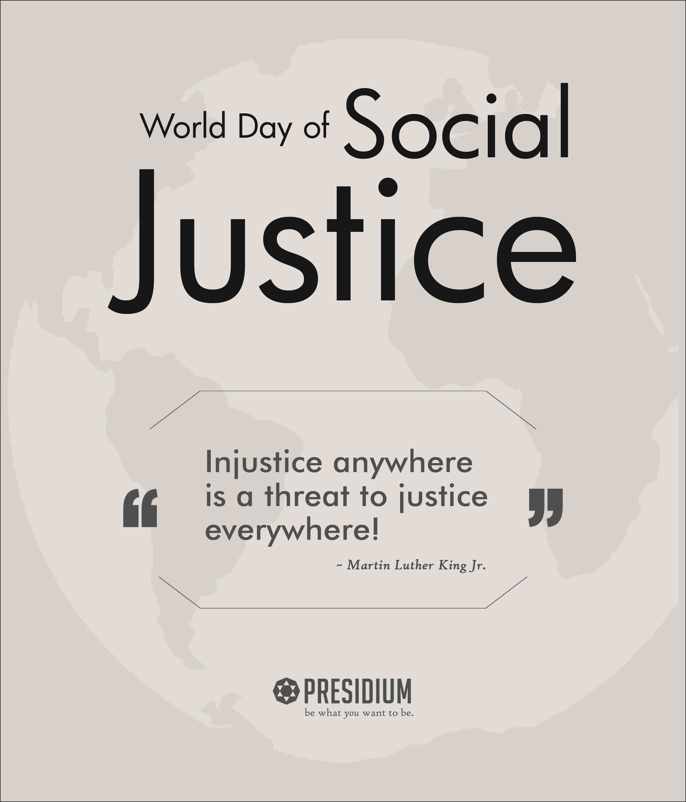 PRESIDIUM STANDS FOR ONENESS ON WORLD DAY OF SOCIAL JUSTICE