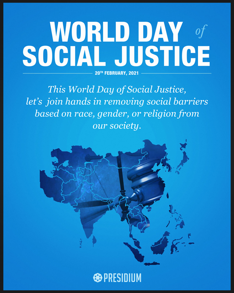 LET'S UPHOLD THE PRINCIPLES OF SOCIAL JUSTICE