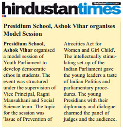 YOUTH PARLIAMENT: A STEPPING STONE FOR FUTURE POLITICAL THINKERS