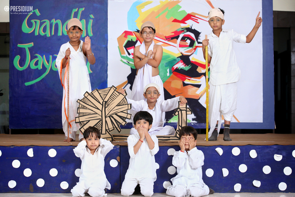 PRESIDIANS SPREAD MESSAGE OF HONESTY AND PEACE ON GANDHI JAYANTI