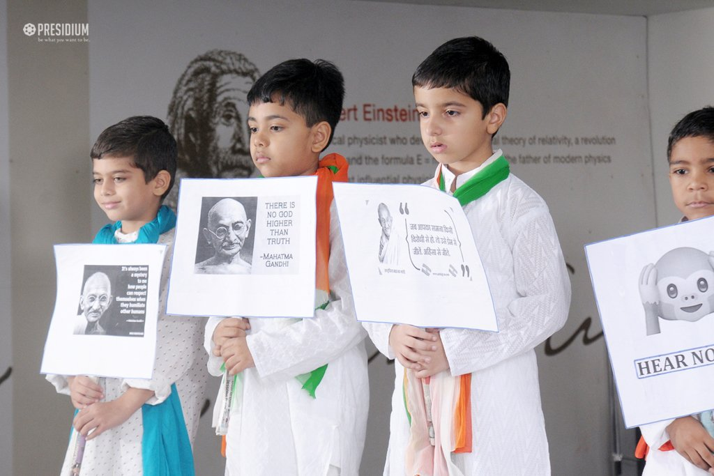 PAYING HOMAGE TO 'FATHER OF THE NATION' ON HIS BIRTH ANNIVERSARY