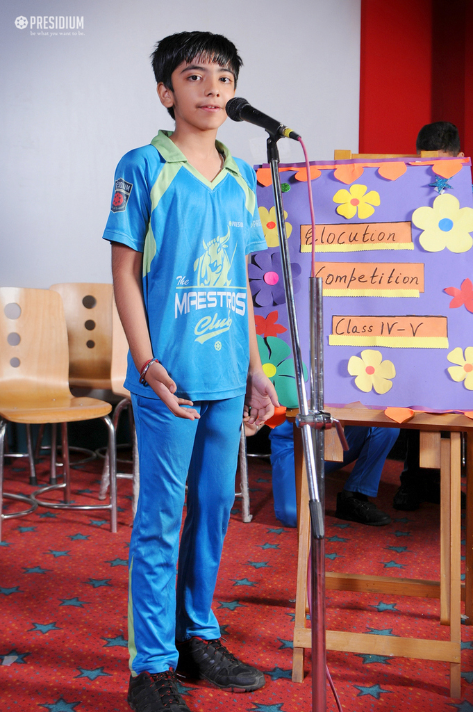 ELOCUTION COMPETITION GIVES AMPLE STAGE EXPOSURE TO THE STUDENTS
