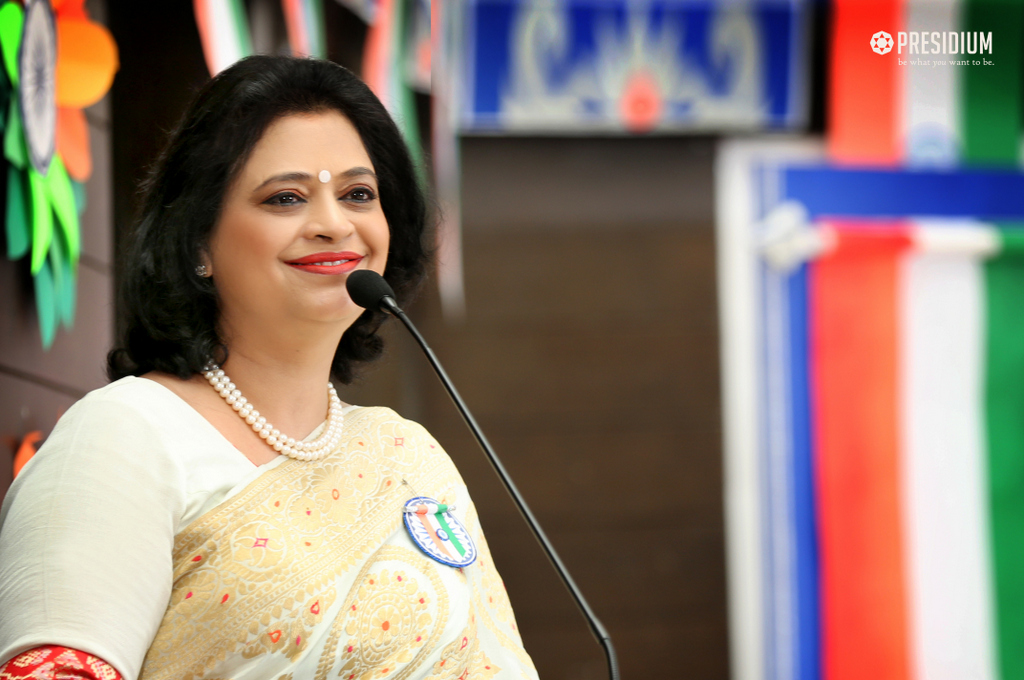 MRS.SUDHA GUPTA GRACES THE GRAND INDEPENDENCE DAY CELEBRATION