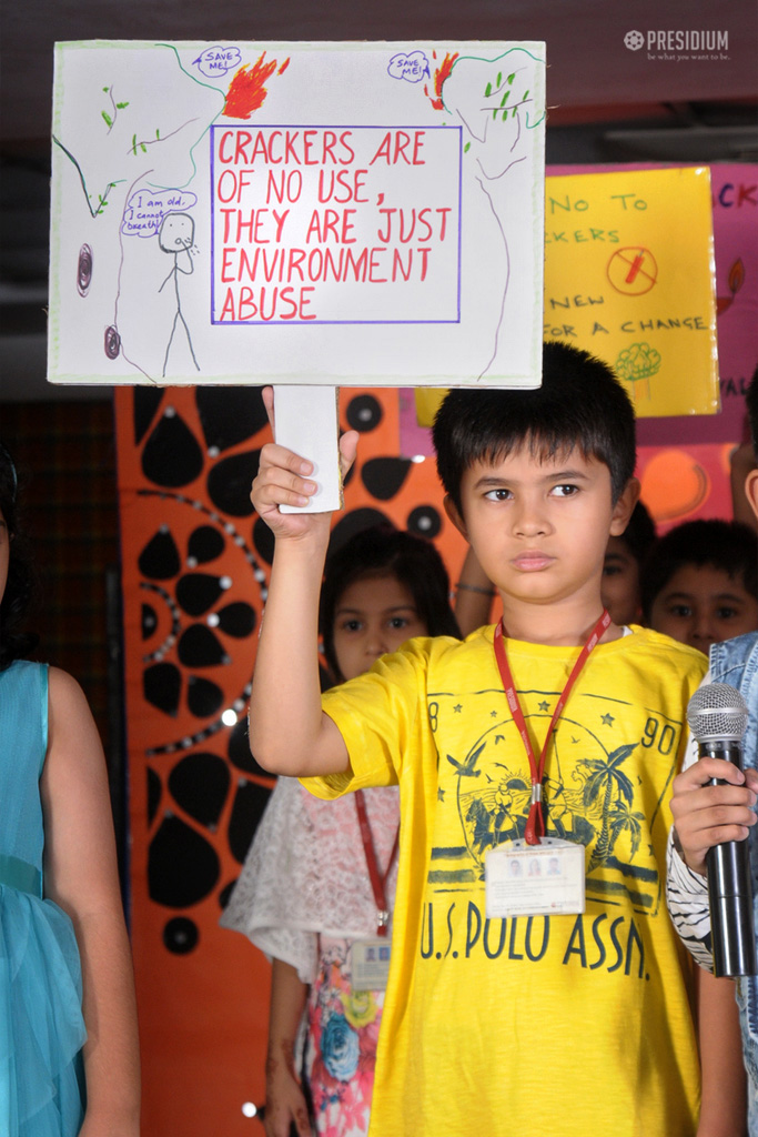 PRESIDIANS OF DWARKA 22 FIRMLY 'SAY NO TO CRACKERS'