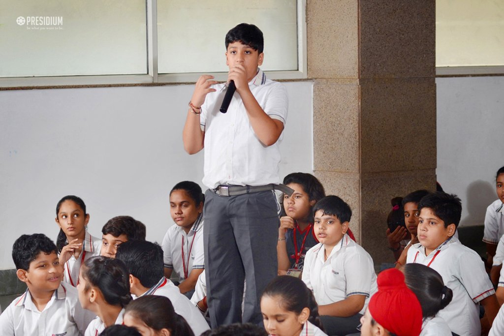 ASSEMBLY ON NONVIOLENCE:STUDENTS' HEARTS FILL WITH LOVE FOR PEACE