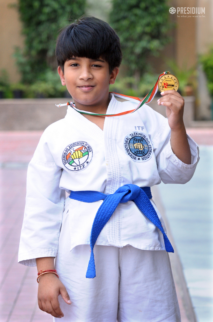 WEST DELHI ITF TAEKWONDO FINALS 2017:PRESIDIANS WIN GOLD & SILVER