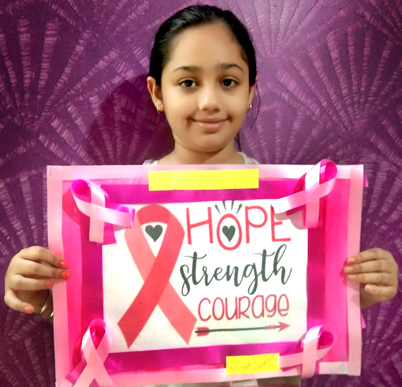 CANCER AWARENESS WITH POSTER MAKING