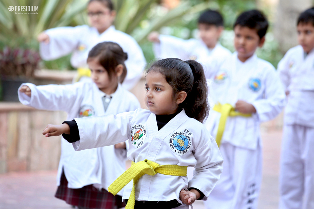 PRESIDIANS SHOWCASE THEIR TECHNIQUE AT TAEKWONDO BELT TEST EVENT 2019