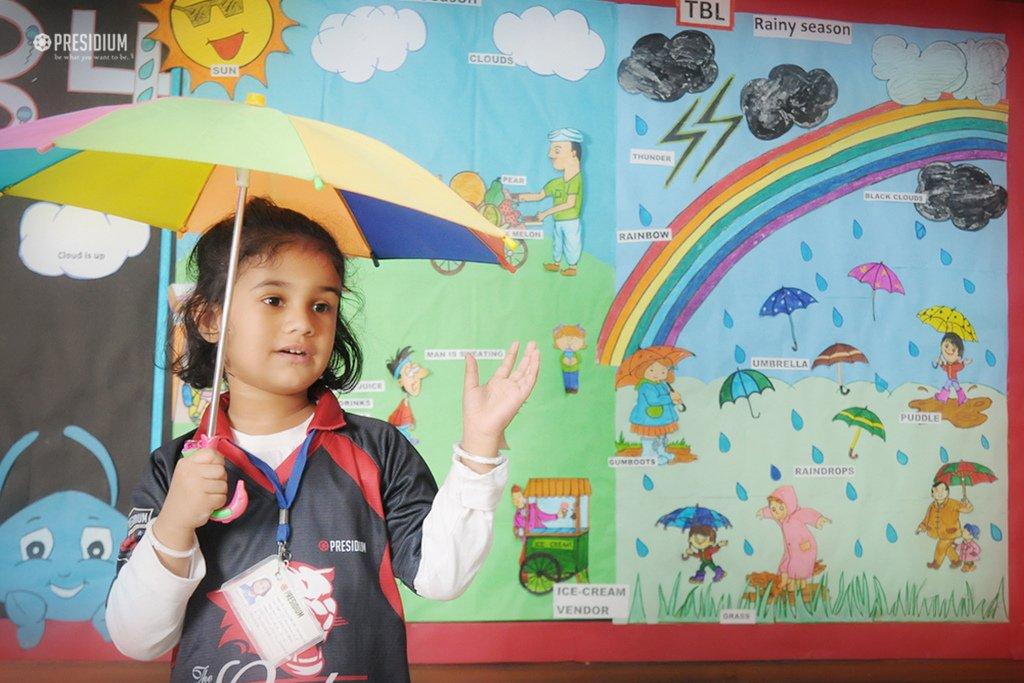 Presidium School, monsoon season celebration in school