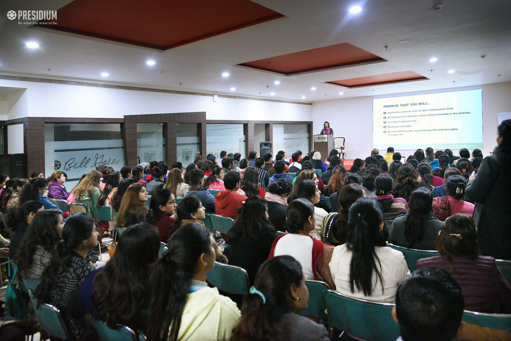 TEACHERS LEARN ABOUT THE 'POWER OF BEING' WITH MRS. SUDHA GUPTA