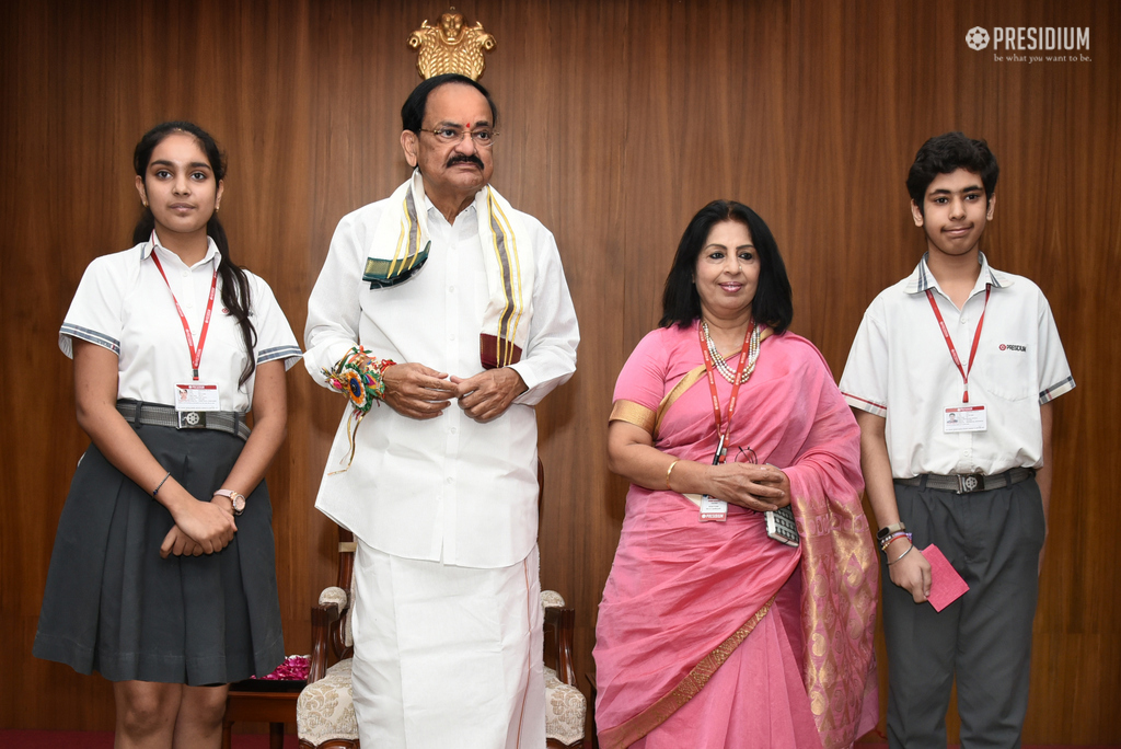 MEMORABLE MEETING WITH VICE PRESIDENT SHRI VENKAIAH NAIDU ON