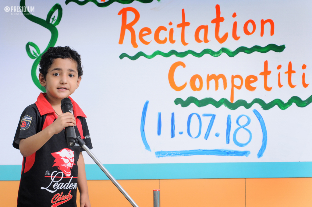RECITATION COMPETITION:LITTLE POETS ENHANCE THEIR VERBAL SKILLS