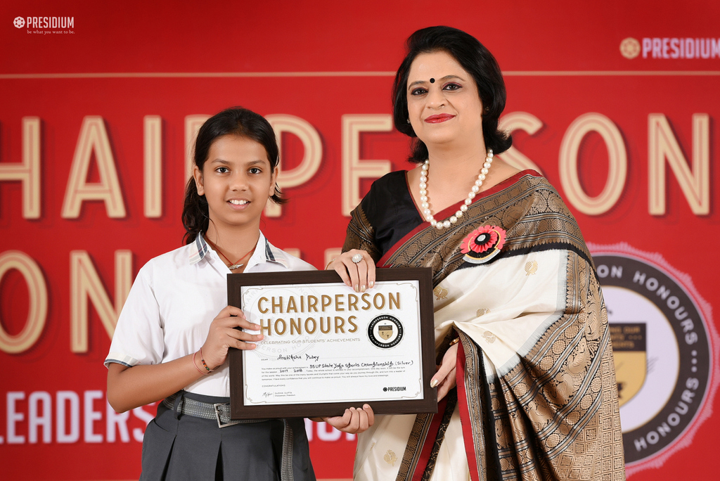 OUR YOUNG ACHIEVERS ACKNOWLEDGED BY CHAIRPERSON OF PRESIDIUM