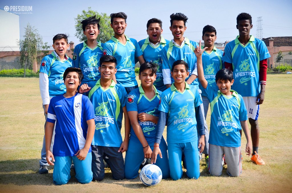BUDDING FOOTBALLERS PLAY WELL AT INTER-CLUB FOOTBALL TOURNAMENT