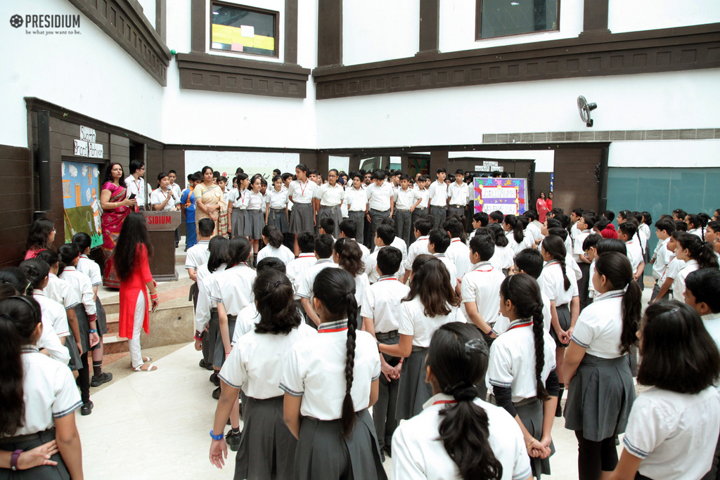 SPECIAL ASSEMBLY ORGANISED ON THE OCCASION OF WORLD ANIMAL DAY