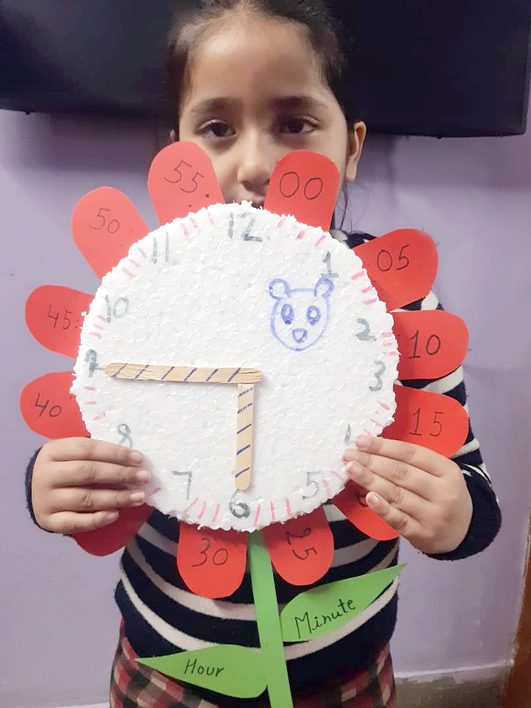 CLOCK MAKING ACTIVITY WITH ENTHUSIASM 2020
