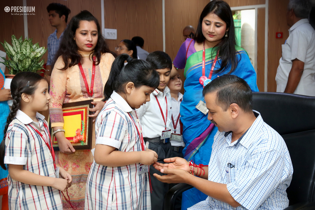Meeting Dignitaries on the festival of Raksha Bandhan