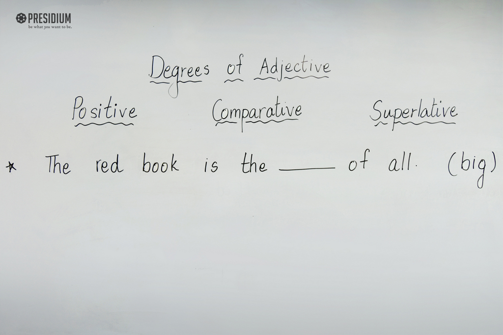ENGLISH ACTIVITY EXPOSES STUDENTS TO DEGREES OF ADJECTIVES 2019